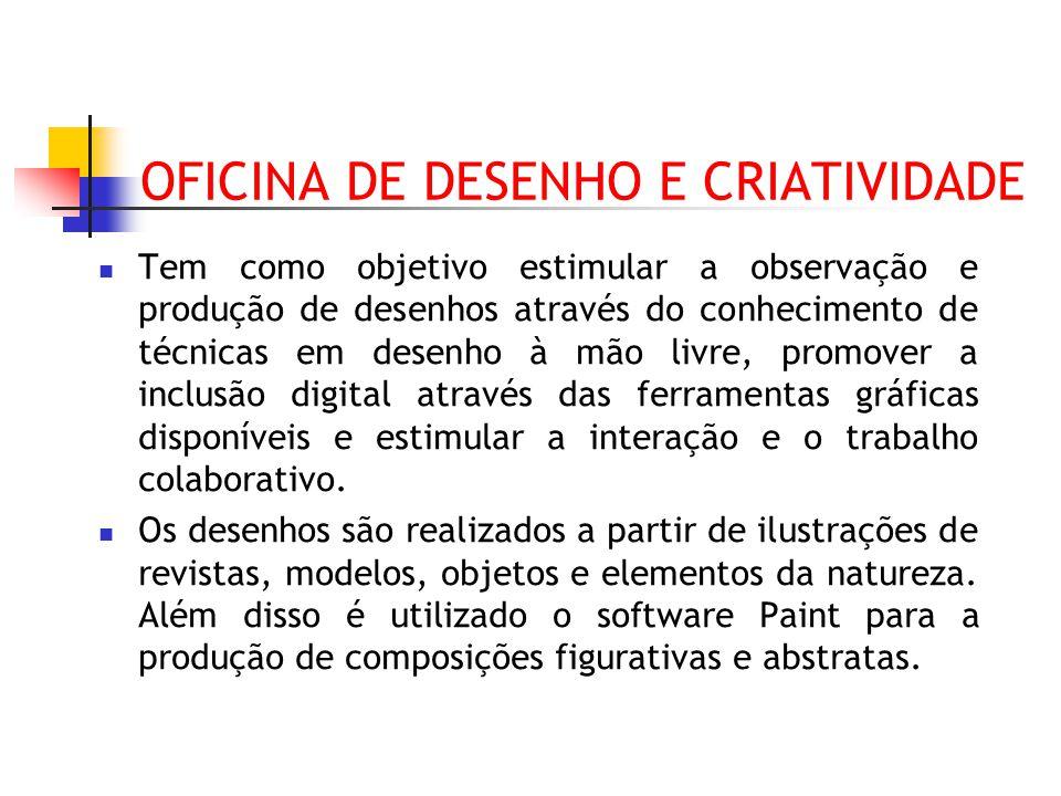 OFICINA DE DESENHO E CRIATIVIDADE