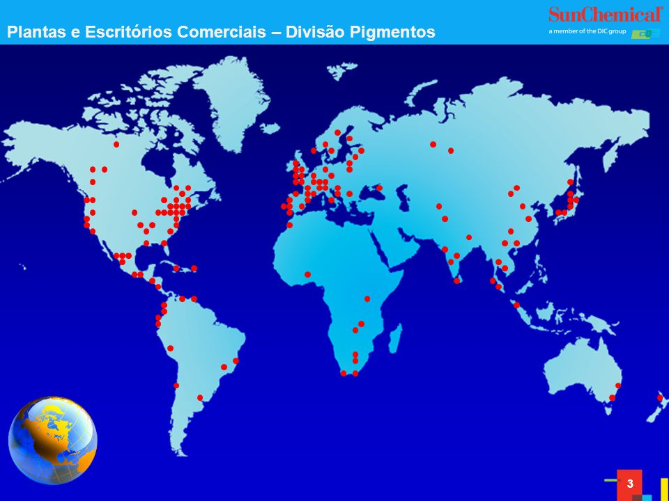Plantas e Escritórios Comerciais – Divisão Pigmentos