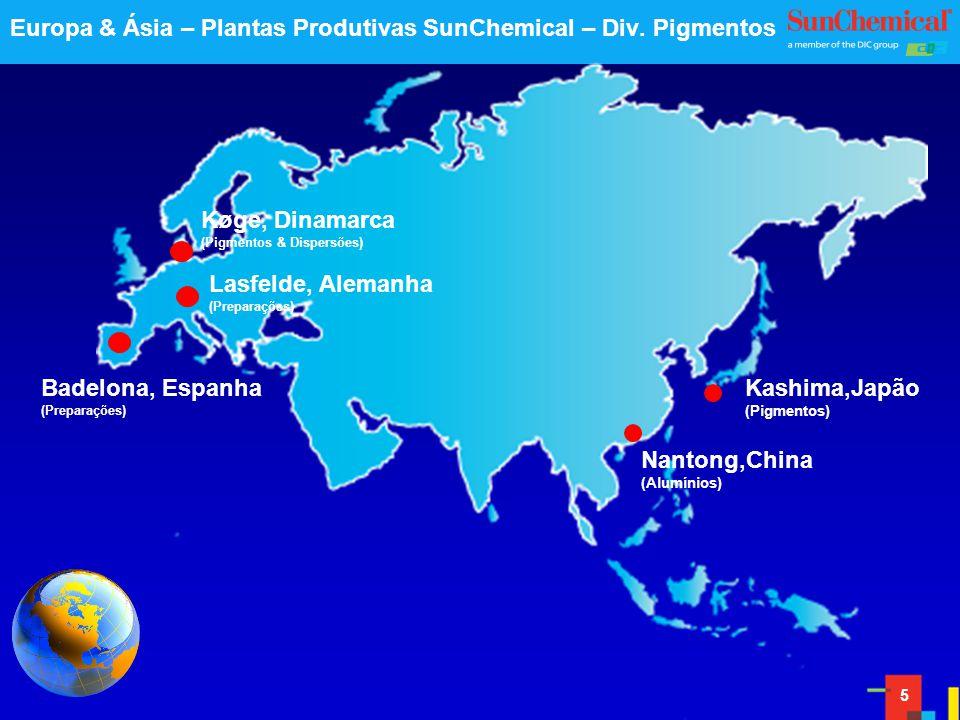 Europa & Ásia – Plantas Produtivas SunChemical – Div. Pigmentos