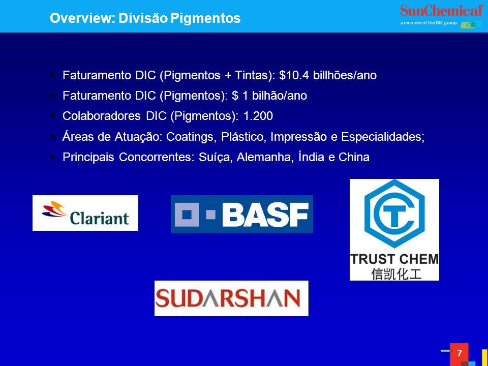 Overview: Divisão Pigmentos