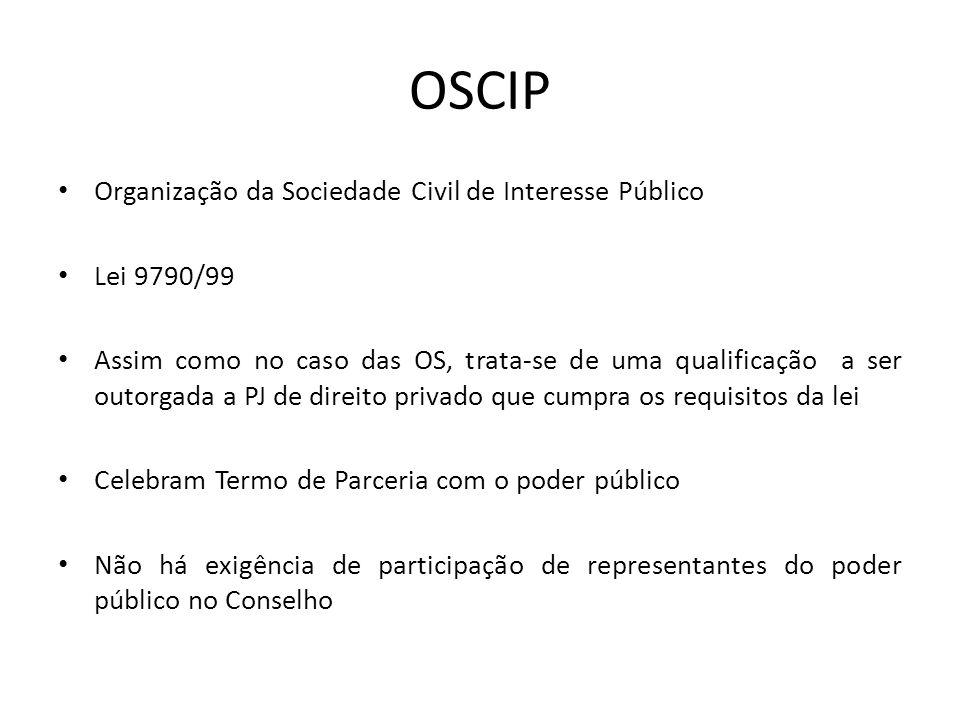 OSCIP Organização da Sociedade Civil de Interesse Público Lei 9790/99