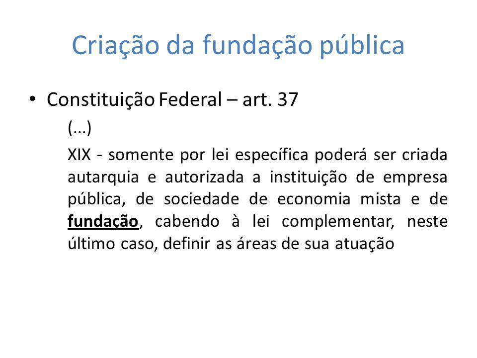 Criação da fundação pública