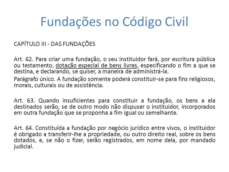 Fundações no Código Civil