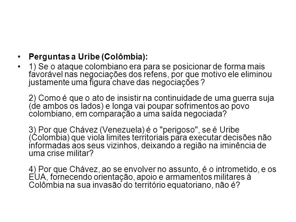 Perguntas a Uribe (Colômbia):
