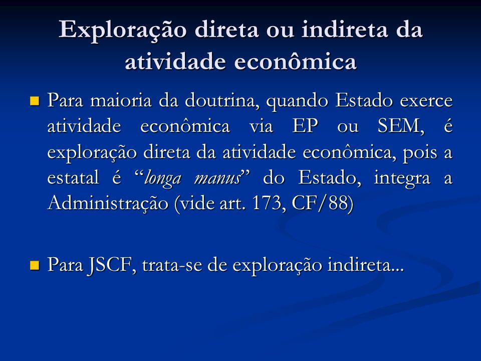 Exploração direta ou indireta da atividade econômica