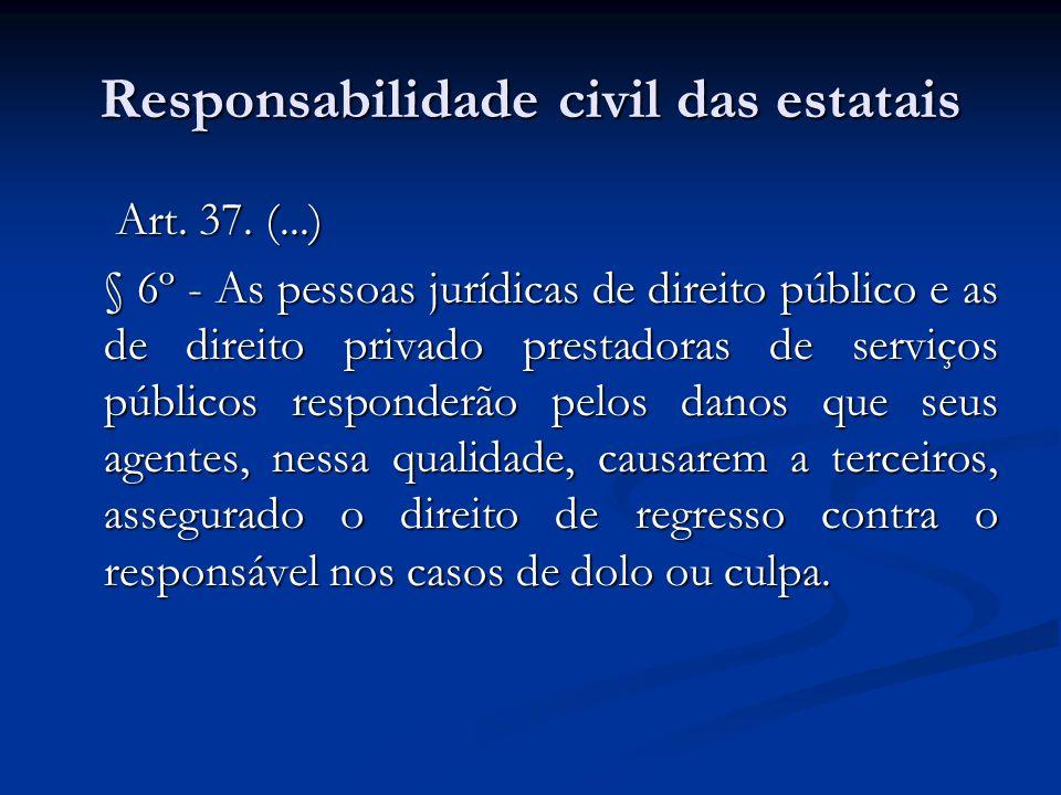 Responsabilidade civil das estatais