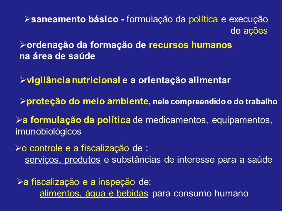saneamento básico - formulação da política e execução de ações