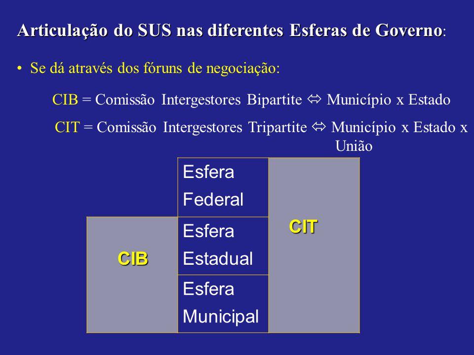 Articulação do SUS nas diferentes Esferas de Governo: