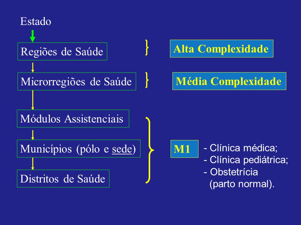 Microrregiões de Saúde Média Complexidade