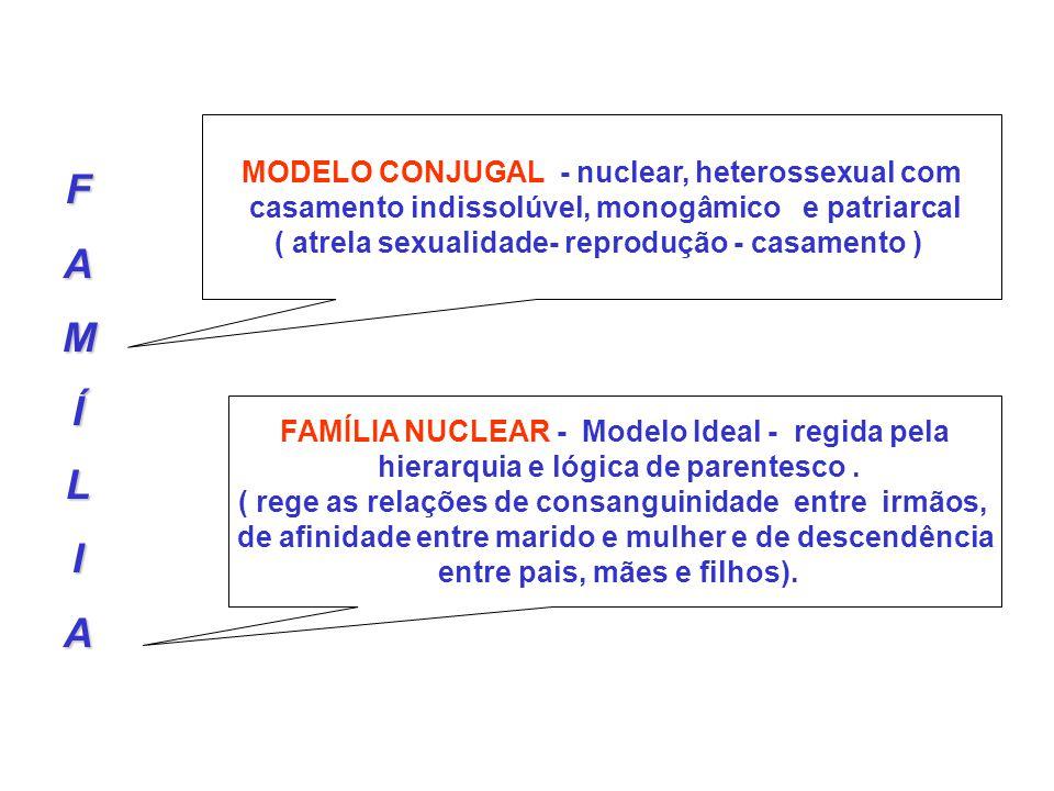 F A M Í L I MODELO CONJUGAL - nuclear, heterossexual com