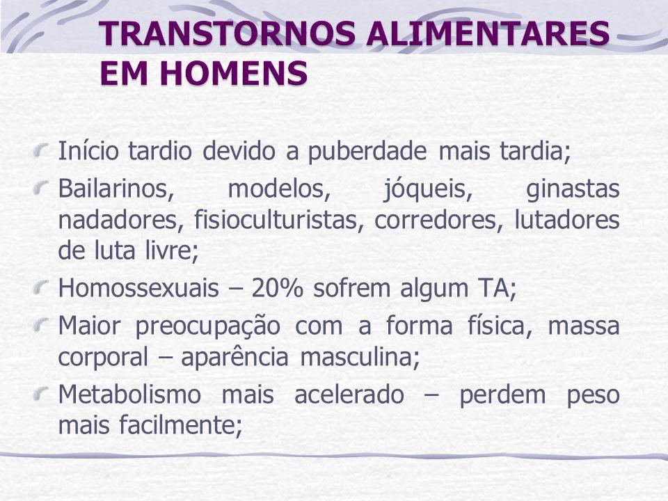 TRANSTORNOS ALIMENTARES EM HOMENS