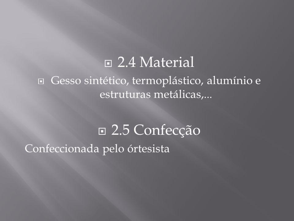 Gesso sintético, termoplástico, alumínio e estruturas metálicas,...