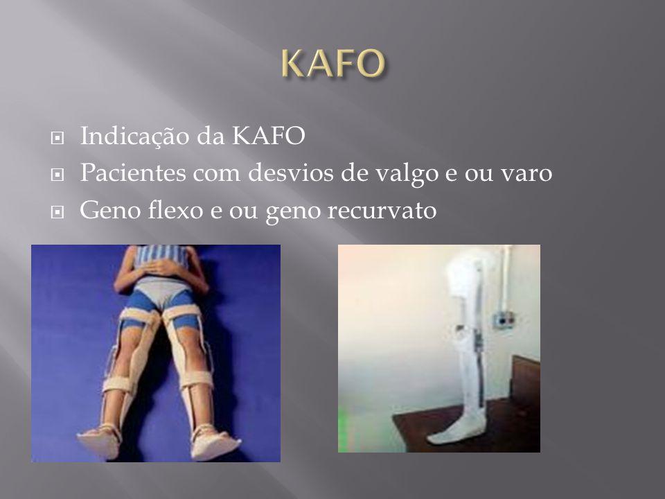 KAFO Indicação da KAFO Pacientes com desvios de valgo e ou varo