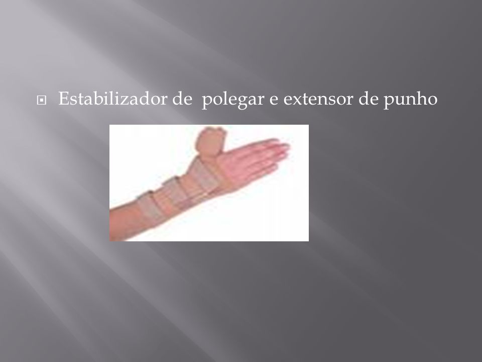 Estabilizador de polegar e extensor de punho