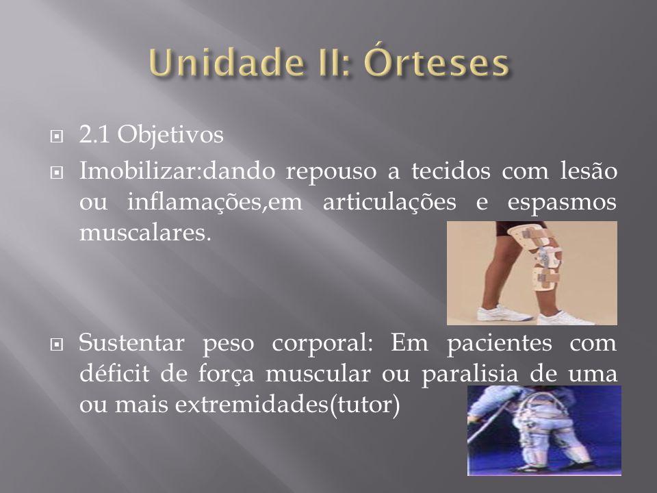 Unidade II: Órteses 2.1 Objetivos