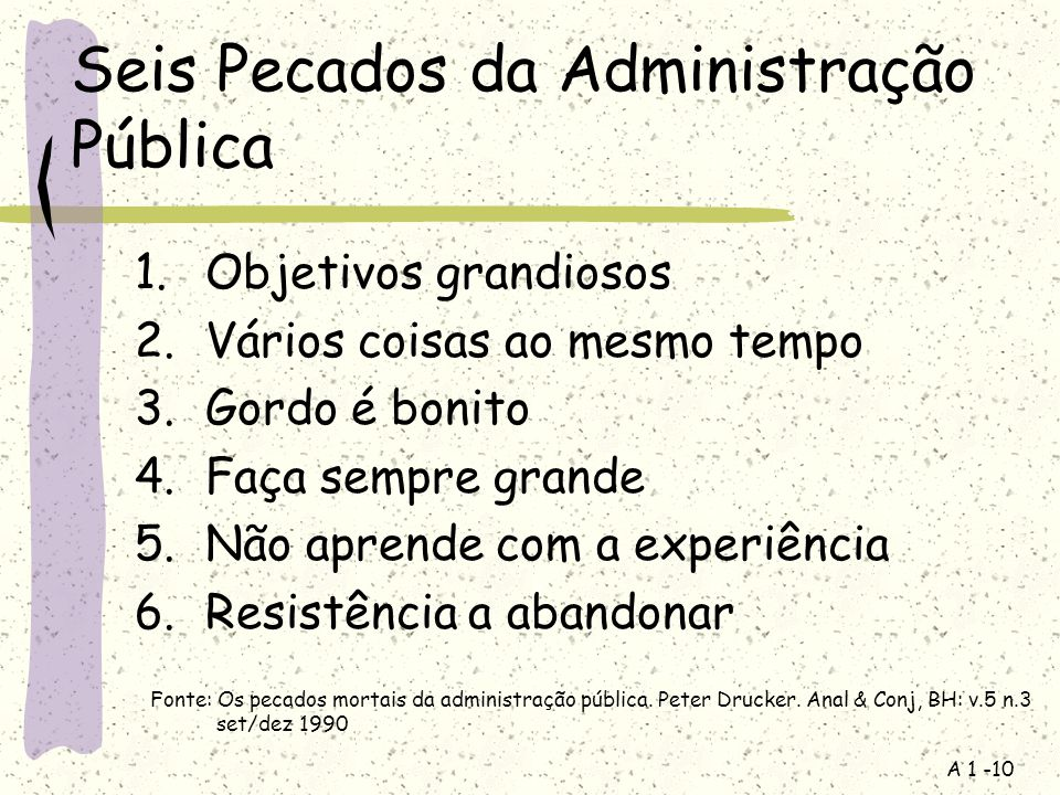 Seis Pecados da Administração Pública