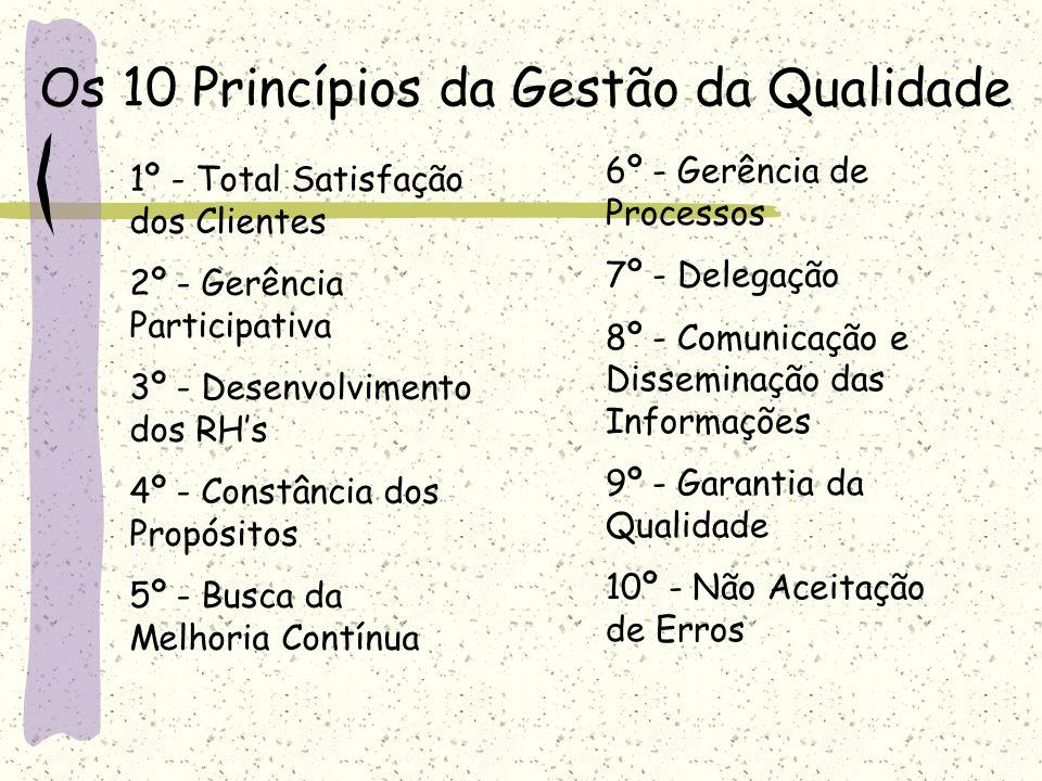 Os 10 Princípios da Gestão da Qualidade