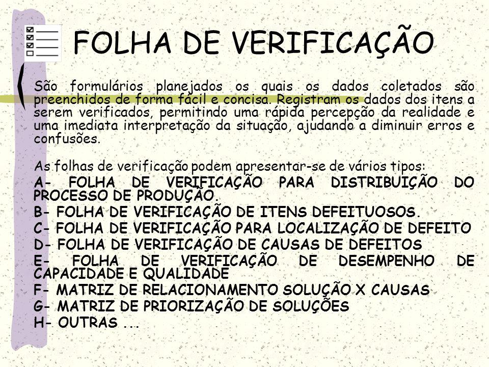 FOLHA DE VERIFICAÇÃO