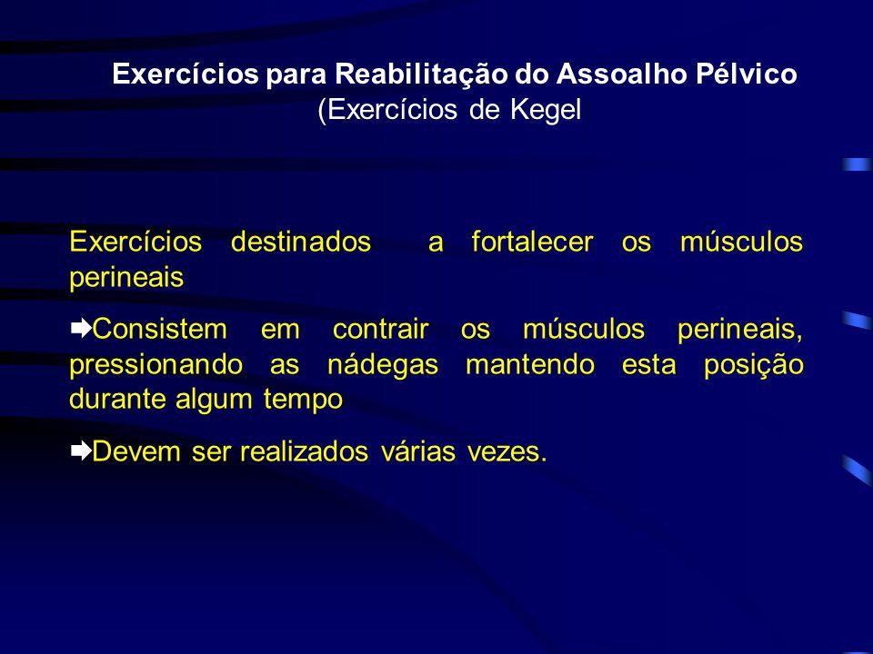 Exercícios para Reabilitação do Assoalho Pélvico (Exercícios de Kegel)
