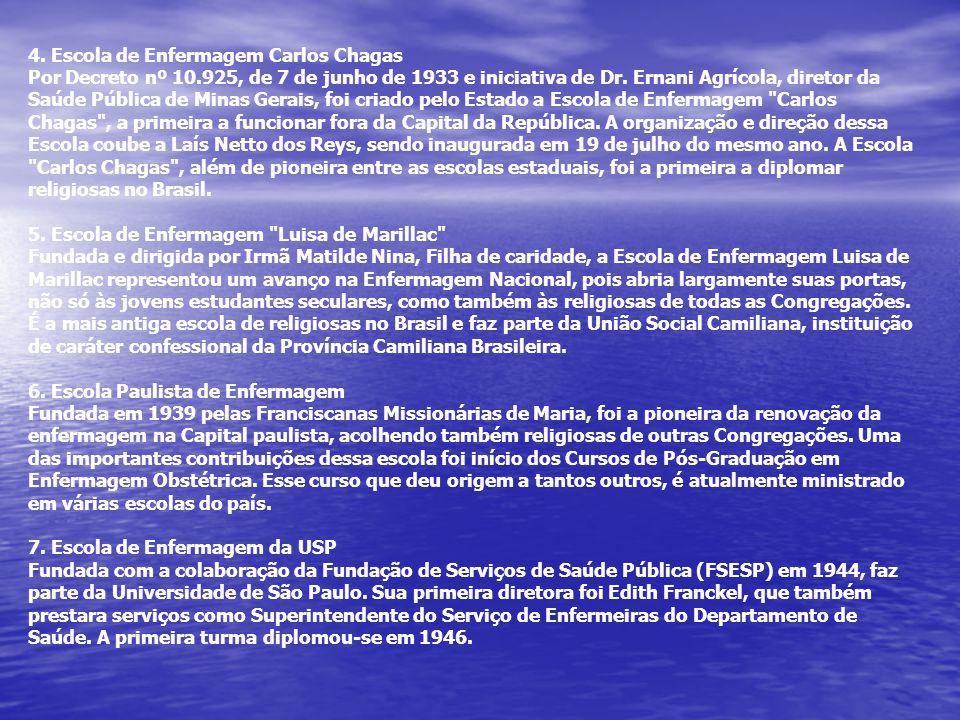 4. Escola de Enfermagem Carlos Chagas Por Decreto nº 10