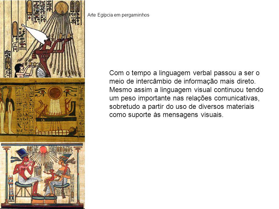 Arte Egípcia em pergaminhos