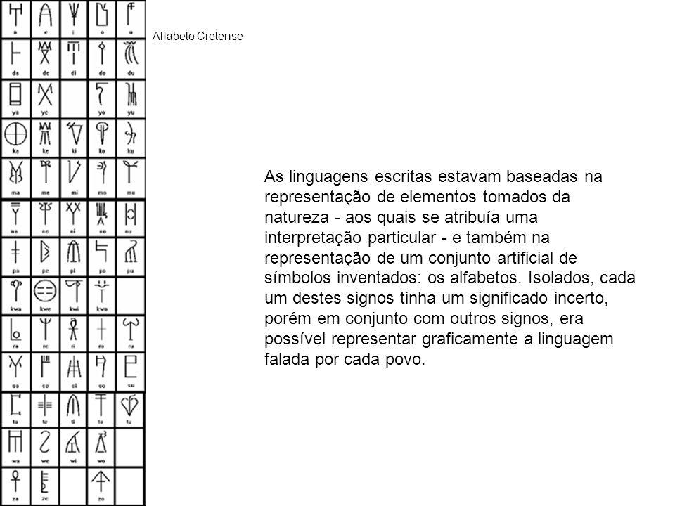 As linguagens escritas estavam baseadas na