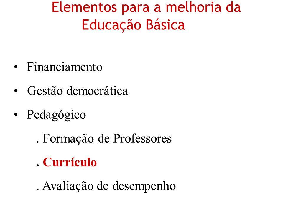 Elementos para a melhoria da Educação Básica