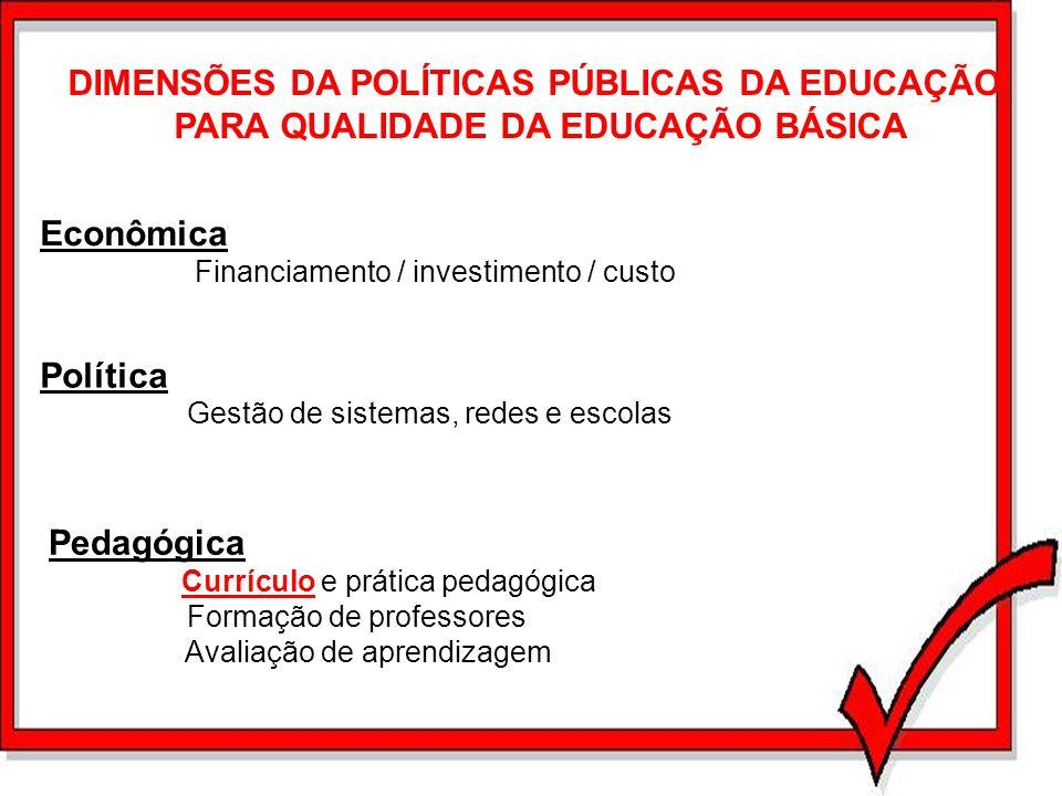 DIMENSÕES DA POLÍTICAS PÚBLICAS DA EDUCAÇÃO