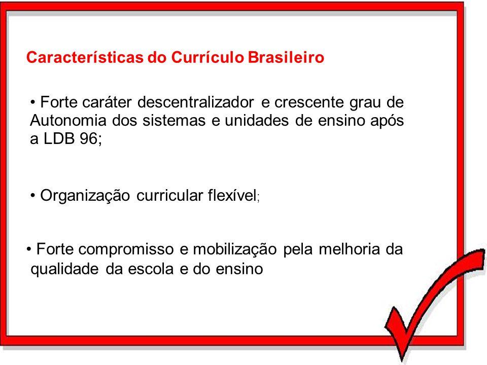 Características do Currículo Brasileiro