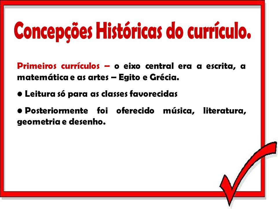 Concepções Históricas do currículo.