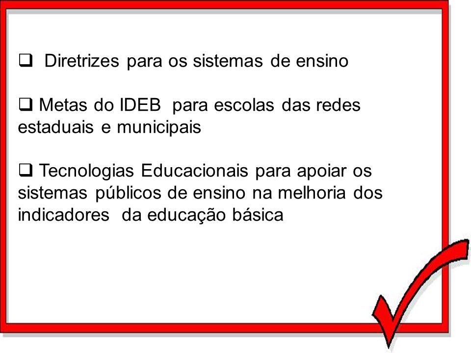 Diretrizes para os sistemas de ensino
