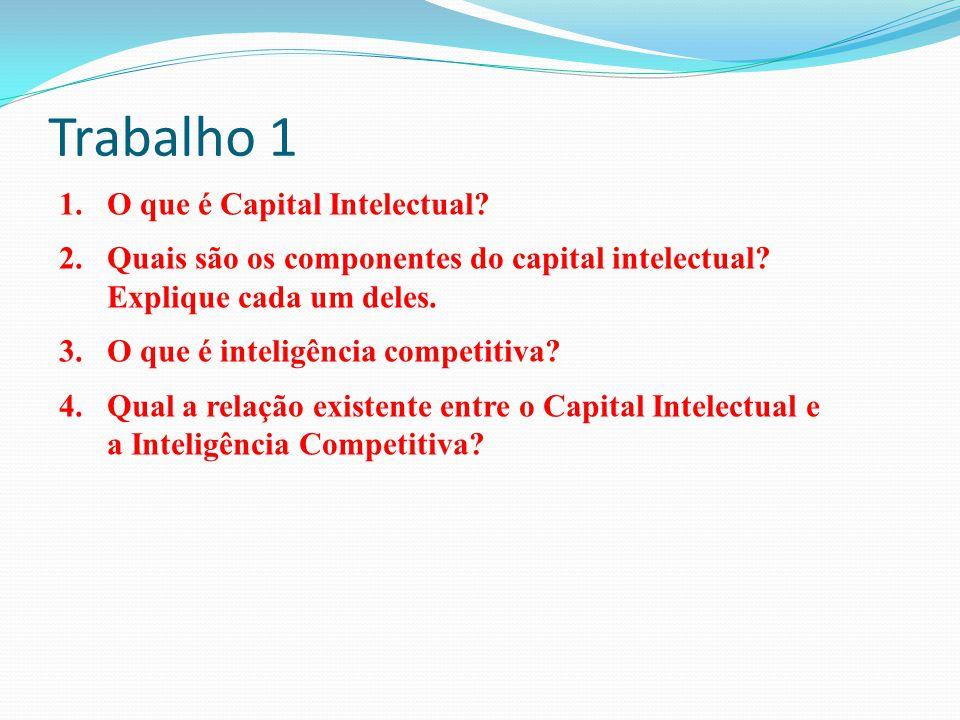 Trabalho 1 O que é Capital Intelectual