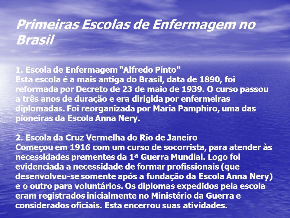Primeiras Escolas de Enfermagem no Brasil 1