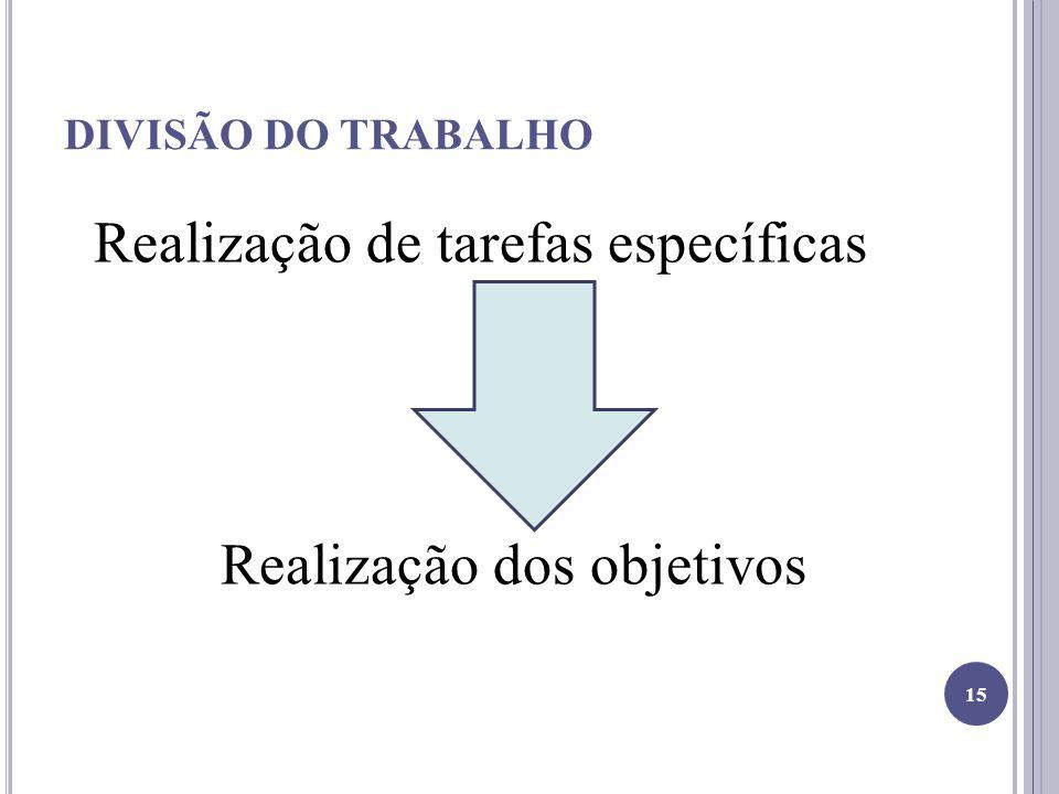 Realização dos objetivos