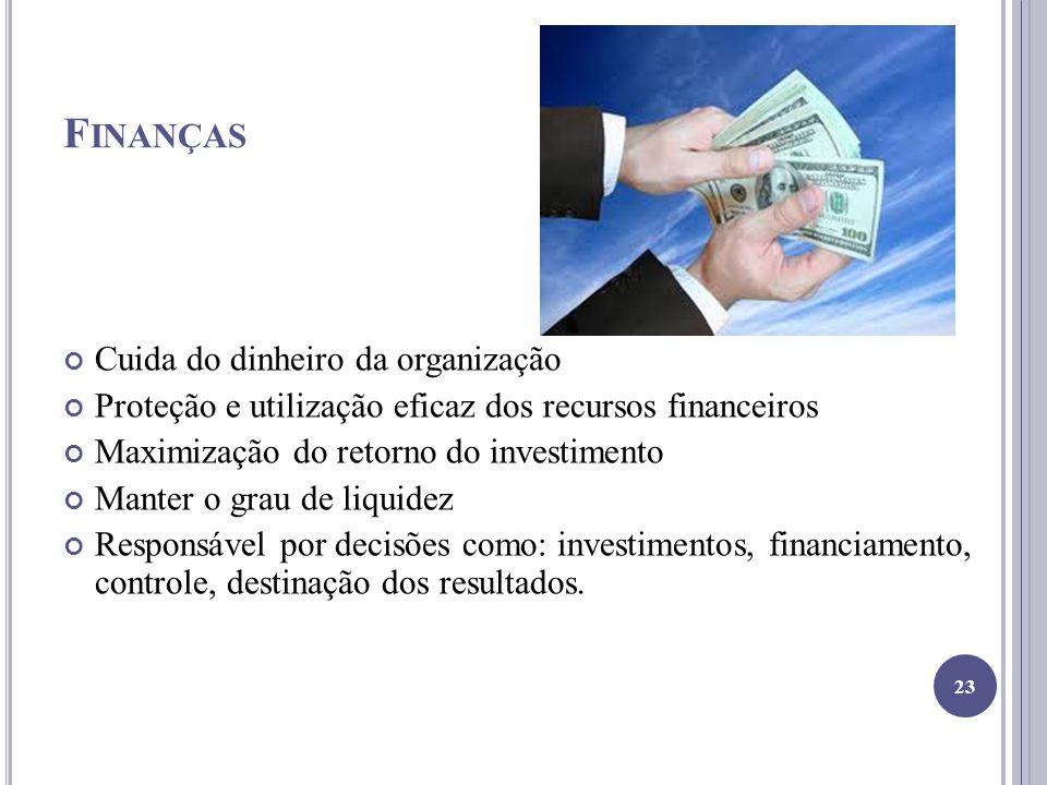 Finanças Cuida do dinheiro da organização