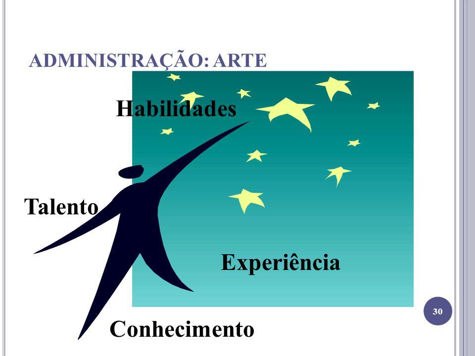 Habilidades Talento Experiência Conhecimento