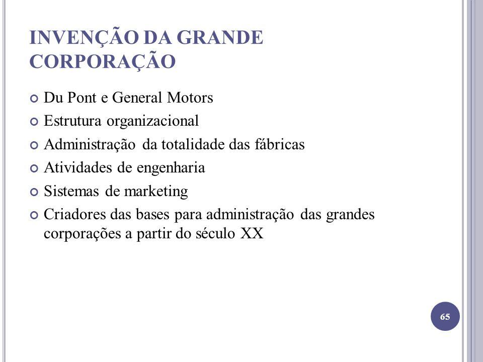 INVENÇÃO DA GRANDE CORPORAÇÃO