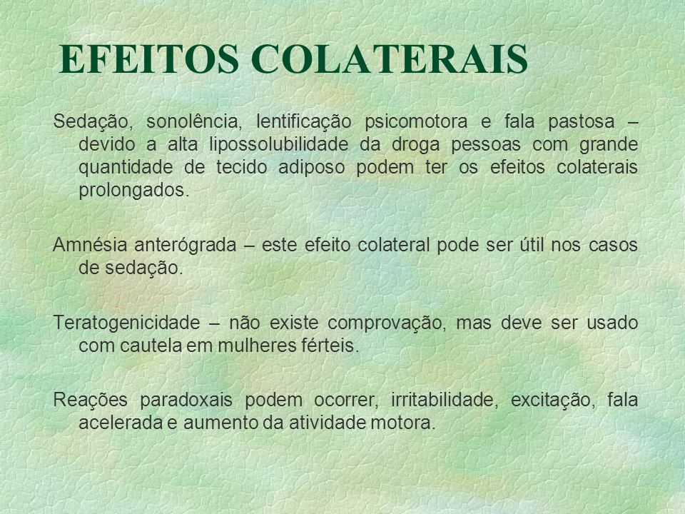 EFEITOS COLATERAIS