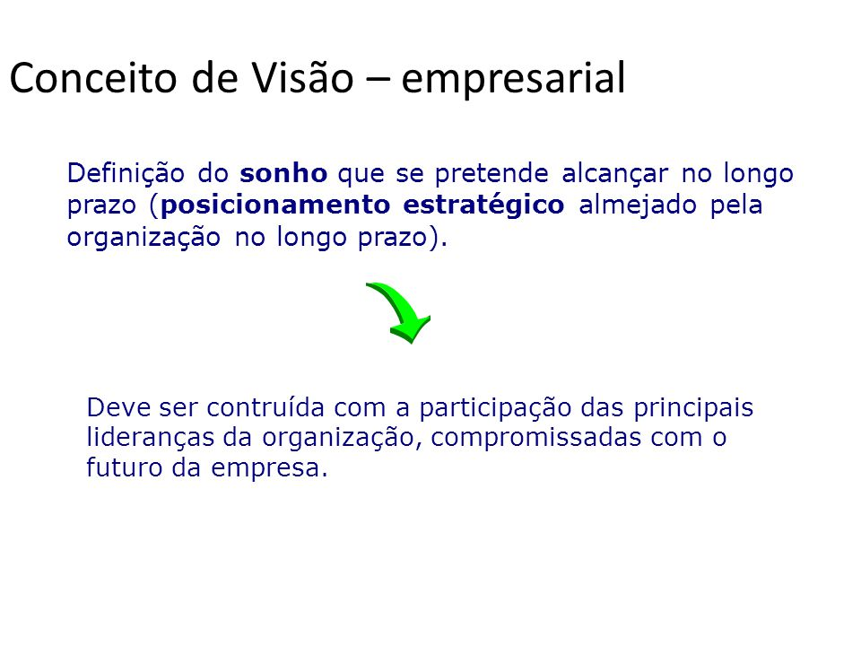 Conceito de Visão – empresarial