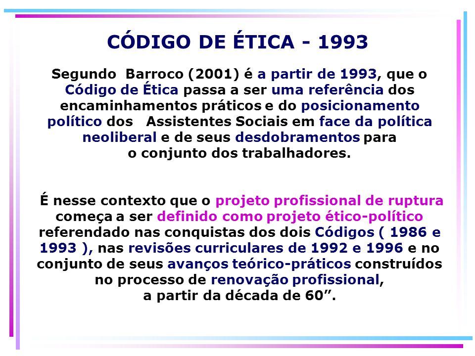 CÓDIGO DE ÉTICA - 1993