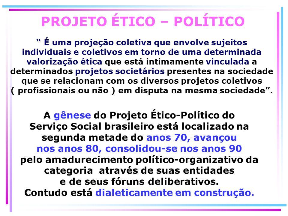 PROJETO ÉTICO – POLÍTICO