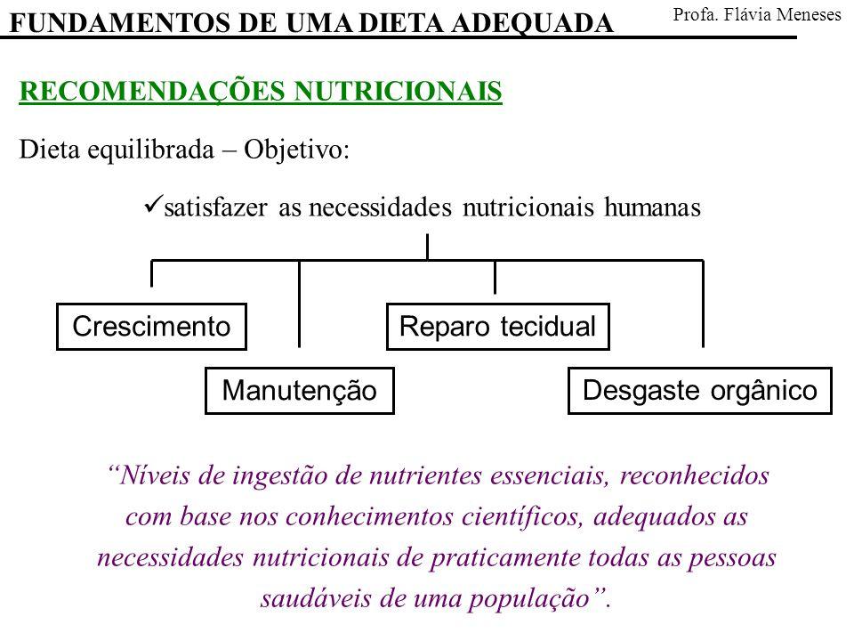 satisfazer as necessidades nutricionais humanas