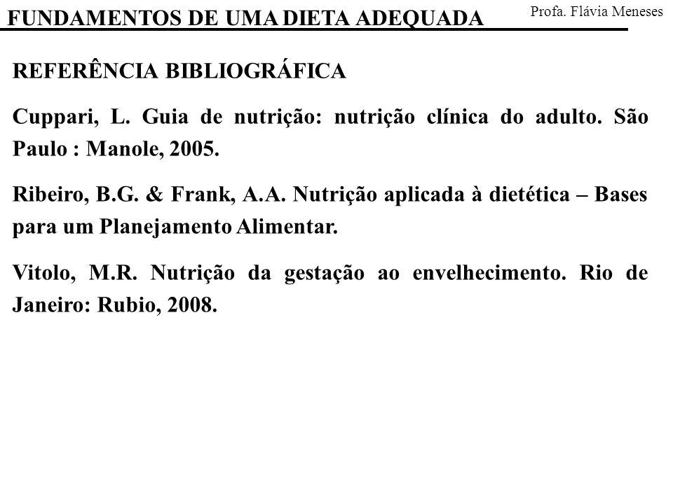 FUNDAMENTOS DE UMA DIETA ADEQUADA