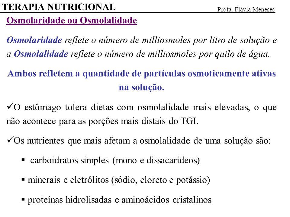 Osmolaridade ou Osmolalidade