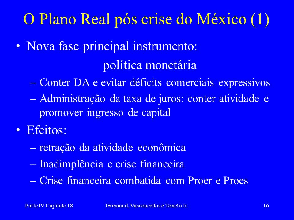 O Plano Real pós crise do México (1)