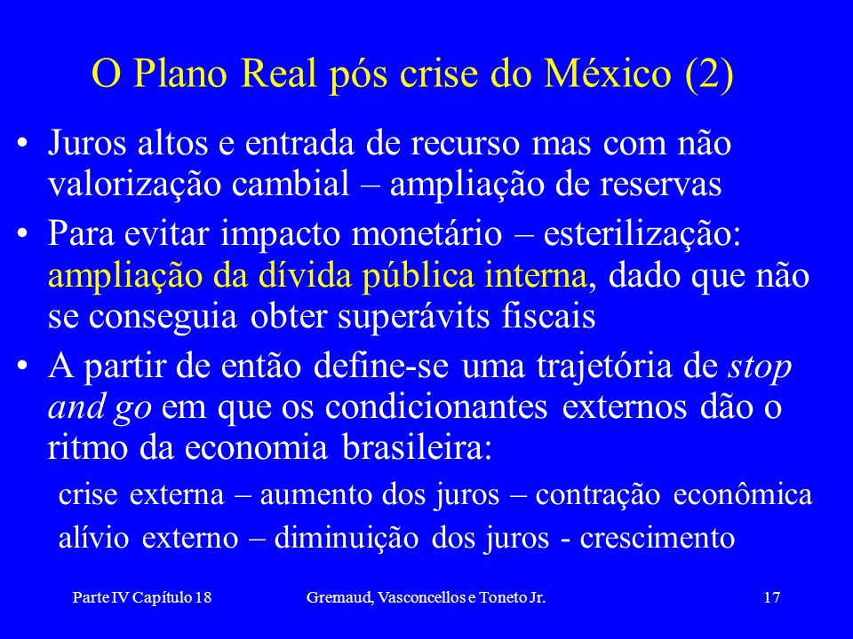 O Plano Real pós crise do México (2)