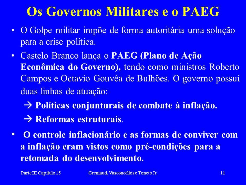 Os Governos Militares e o PAEG