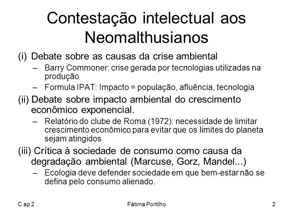 Contestação intelectual aos Neomalthusianos
