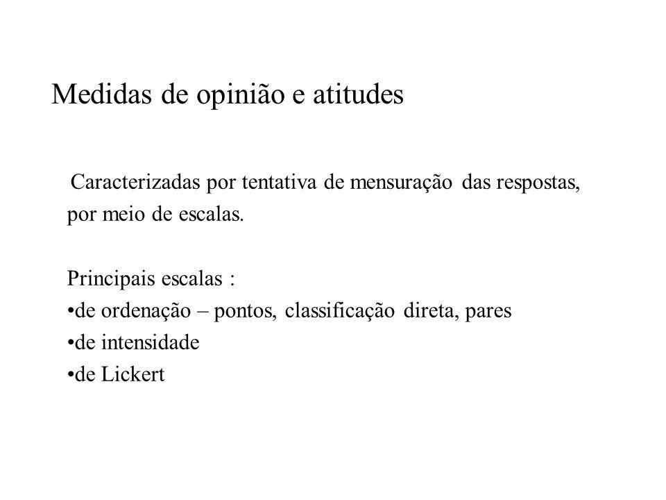 Medidas de opinião e atitudes