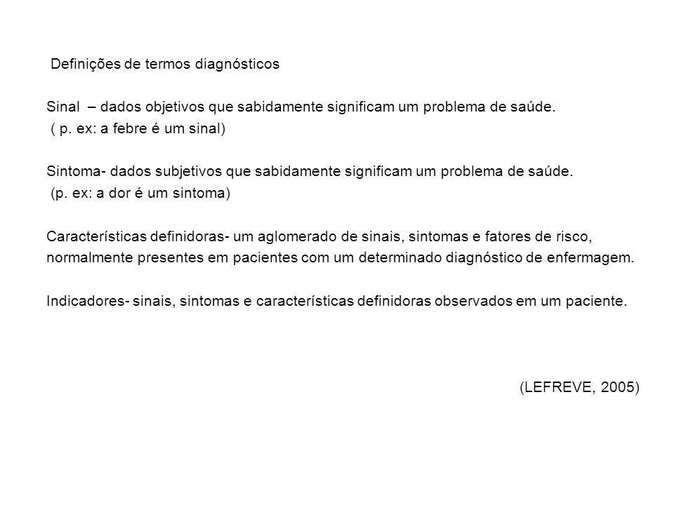 Definições de termos diagnósticos
